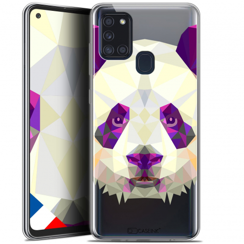 "Extra Slim Gel Samsung Galaxy A21S (6.5"") Case Polygon Animals Panda"