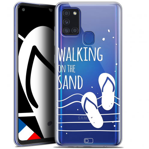 "Extra Slim Gel Samsung Galaxy A21S (6.5"") Case Summer Walking on the Sand"