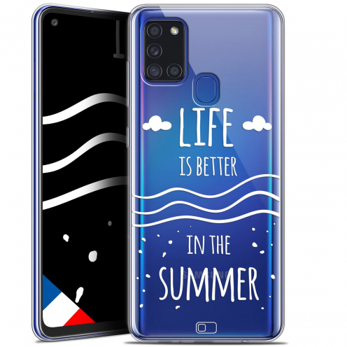 "Extra Slim Gel Samsung Galaxy A21S (6.5"") Case Summer Life's Better"