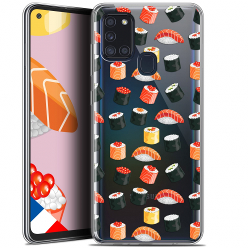 "Extra Slim Gel Samsung Galaxy A21S (6.5"") Case Foodie Sushi"
