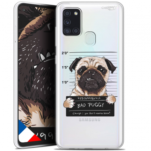 "Extra Slim Gel Samsung Galaxy A21S (6.5"") Case Design Beware The Puggy Dog"