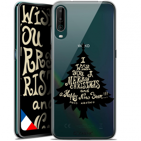 "Extra Slim Gel Wiko View 4 (6.5"") Case Noël 2017 XOXO Tree"