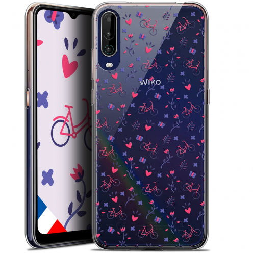 "Extra Slim Gel Wiko View 4 (6.5"") Case Love Bicycle"