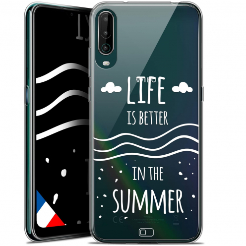 """Extra Slim Gel Wiko View 4 (6.5"""") Case Summer Life's Better"""