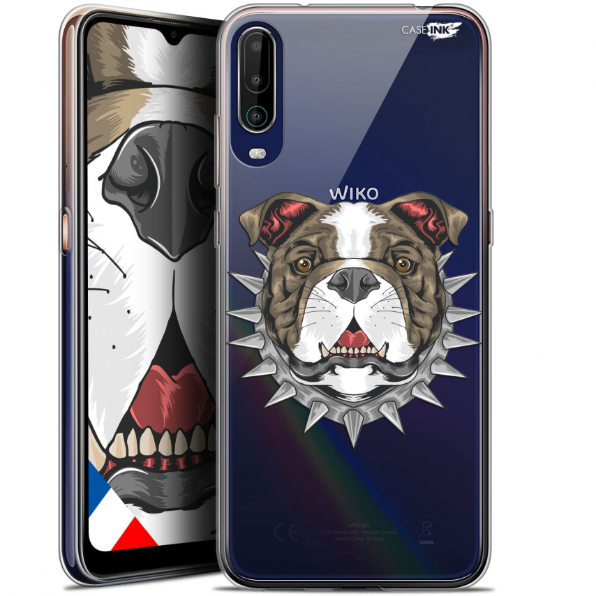 "Extra Slim Gel Wiko View 4 (6.5"") Case Design Doggy"