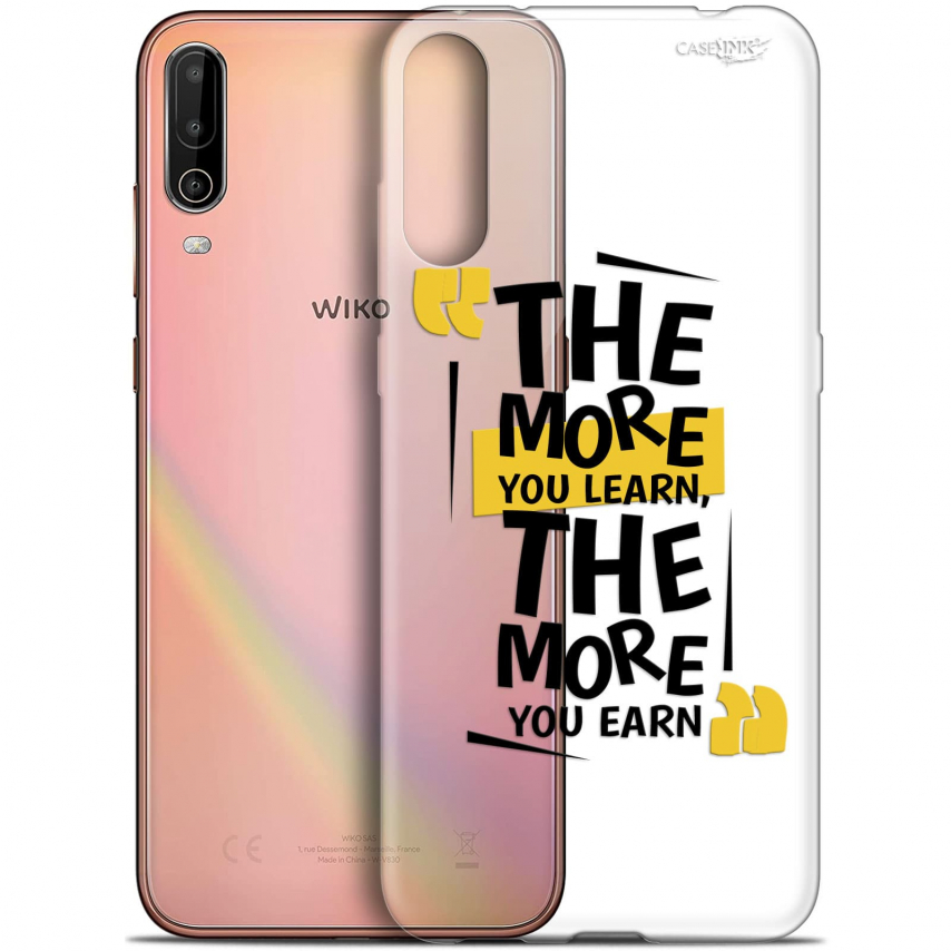 """Extra Slim Gel Wiko View 4 (6.5"""") Case Design The More You Learn"""