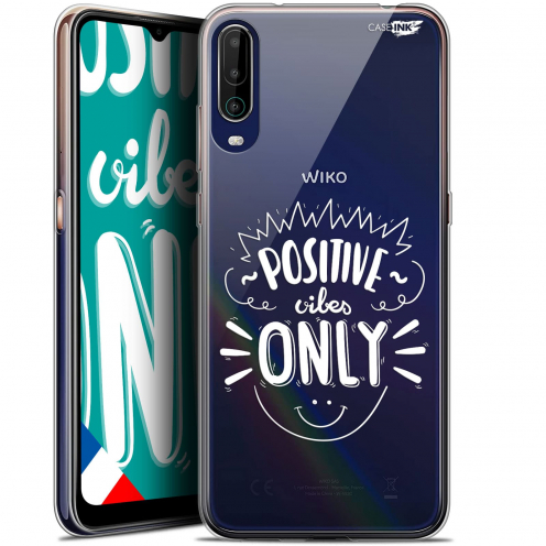 """Extra Slim Gel Wiko View 4 (6.5"""") Case Design Positive Vibes Only"""