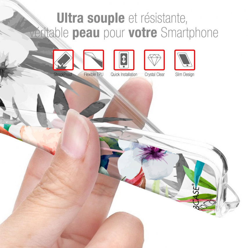 """Extra Slim Gel Wiko View 4 (6.5"""") Case Design Peace And Love"""