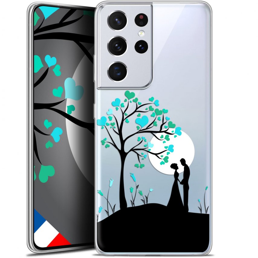 "Extra Slim Gel Samsung Galaxy S21 Ultra (6.8"") Case Love Sous l'arbre"