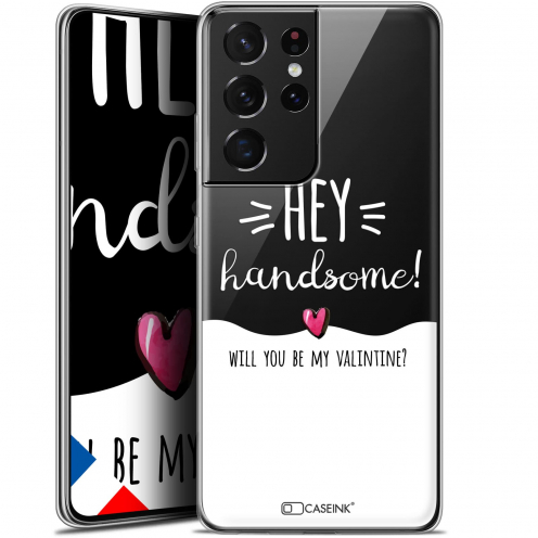 "Extra Slim Gel Samsung Galaxy S21 Ultra (6.8"") Case Love Hey Handsome !"