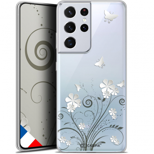 "Extra Slim Gel Samsung Galaxy S21 Ultra (6.8"") Case Summer Papillons"