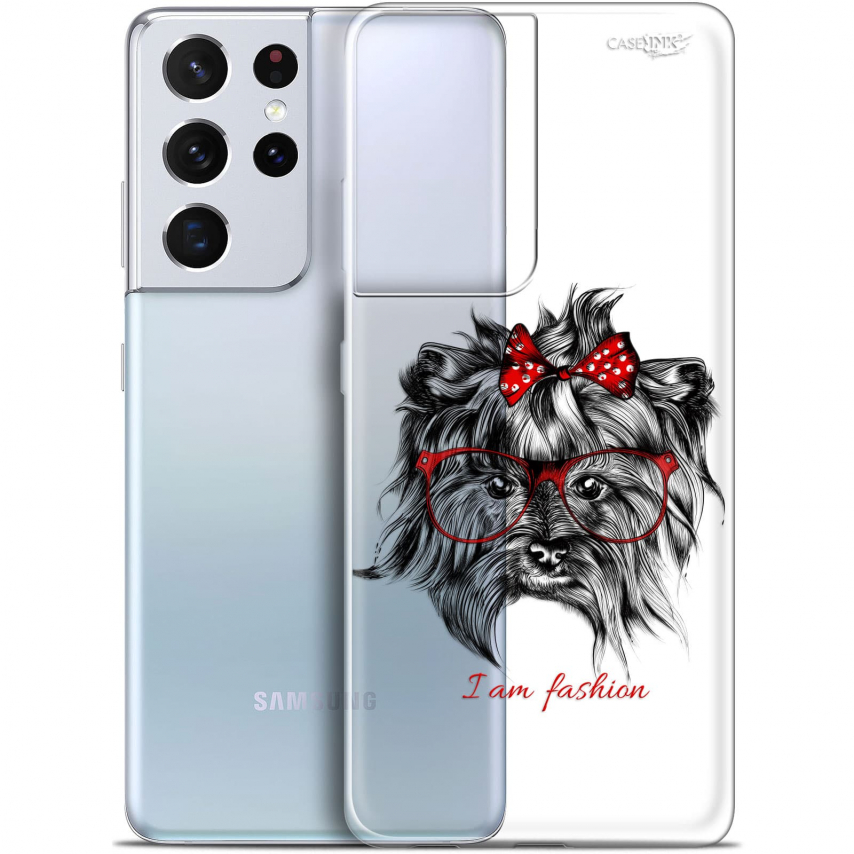 "Extra Slim Gel Samsung Galaxy S21 Ultra (6.8"") Case Design Fashion Dog"