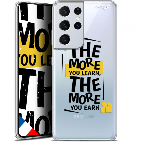"""Extra Slim Gel Samsung Galaxy S21 Ultra (6.8"""") Case Design The More You Learn"""