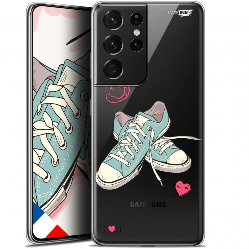 """Extra Slim Gel Samsung Galaxy S21 Ultra (6.8"""") Case Design Mes Sneakers d'Amour"""