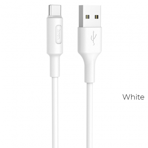 HOCO cable USB Soarer charging data cable for Type C X25 white