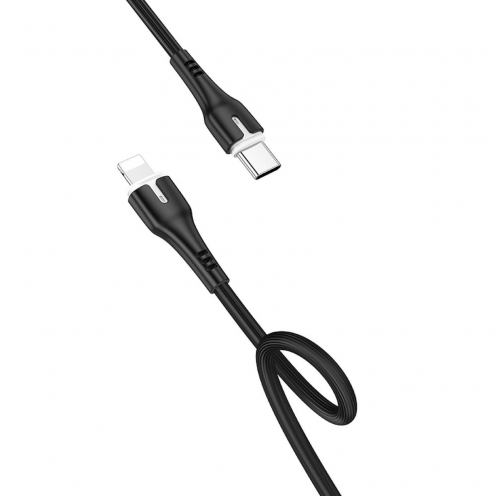 HOCO cable Type C to iPhone Lightning 8-pin Surplus Power Delivery 18W X45 1 meter black