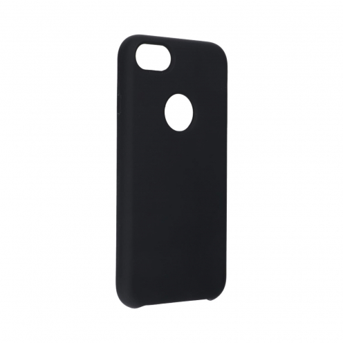 Forcell Silicone Case for iPhone 7 black (with hole)