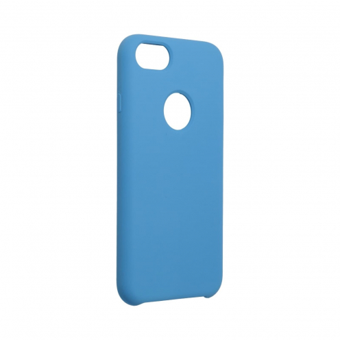 Forcell Silicone Case for iPhone 7 dark blue (with hole)