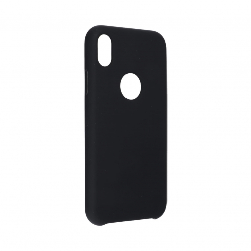 "Forcell Silicone Case for iPhone XR ( 6,1"" ) black (with hole)"