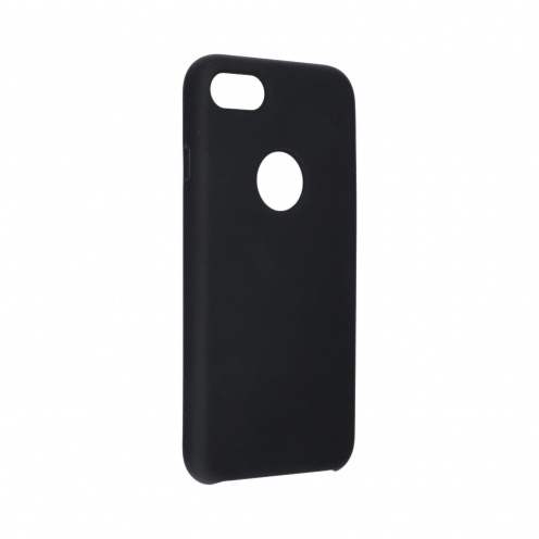 Forcell Silicone Case for iPhone 8 black (with hole)