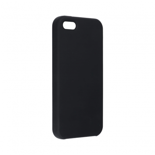 Forcell Silicone Case for iPhone 5 / 5S / 5SE black (without hole)