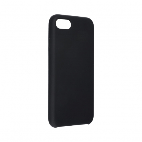 Forcell Silicone Case for iPhone 7 / 8 black (without hole)