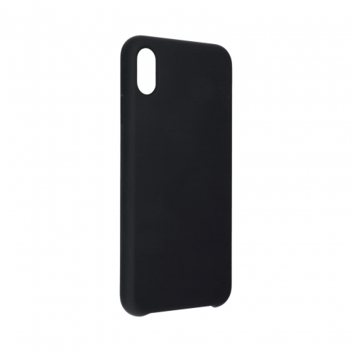 "Forcell Silicone Case for iPhone XR ( 6,1"" ) black (without hole)"