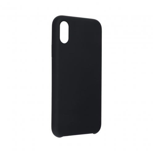 """Forcell Silicone Case for iPhone XS ( 5,8"""" ) black (without hole)"""