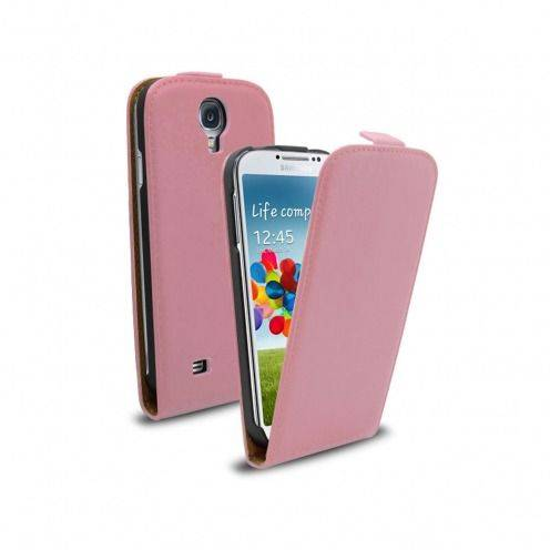 leather flip case pink Samsung Galaxy S4