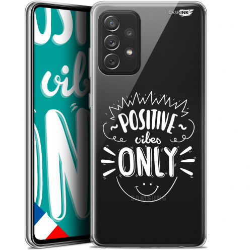"""Extra Slim Gel Samsung Galaxy A72 4G/5G (6.7"""") Case Design Positive Vibes Only"""