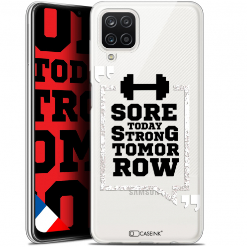 """Extra Slim Gel Samsung Galaxy A12 (6.5"""") Case Quote Strong Tomorrow"""
