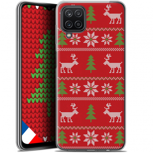"""Extra Slim Gel Samsung Galaxy A12 (6.5"""") Case Noël 2017 Couture Rouge"""