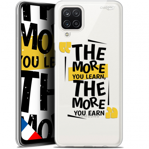 """Extra Slim Gel Samsung Galaxy A12 (6.5"""") Case Design The More You Learn"""