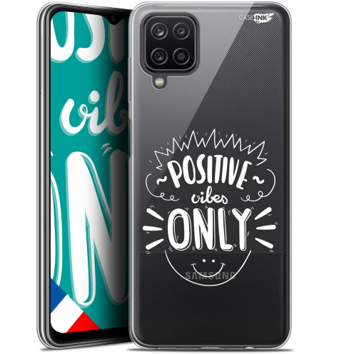 """Extra Slim Gel Samsung Galaxy A12 (6.5"""") Case Design Positive Vibes Only"""