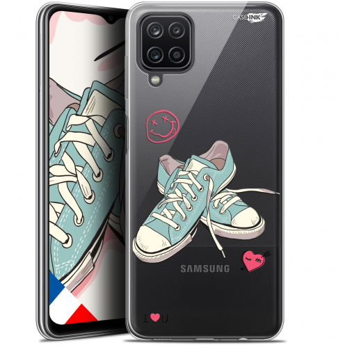 """Extra Slim Gel Samsung Galaxy A12 (6.5"""") Case Design Mes Sneakers d'Amour"""