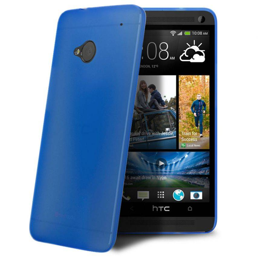 Ultra thin Case 0.3 mm Frost for HTC One Blue