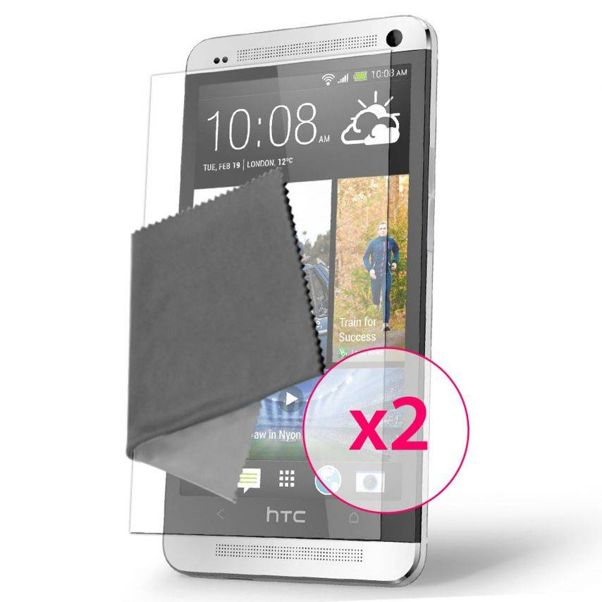 Clubcase ® Ultra Clear HQ screen protector for HTC One 3-Pack