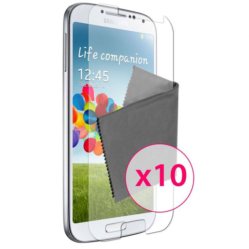 Clubcase ® Ultra Clear HQ screen protector for Galaxy S4 10-Pack