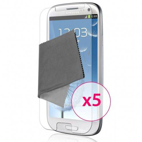 Clubcase ® Ultra Clear HQ screen protector for Galaxy S3 5-Pack