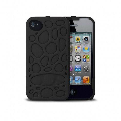 Freshfiber® Peeble Double Cap Case iPhone 4S/4 Black