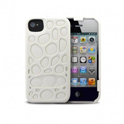 Freshfiber® Peeble Double Cap Case iPhone 4S/4 White
