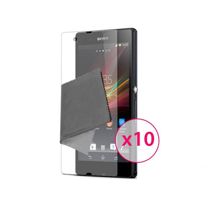 Clubcase ® Ultra Clear HQ screen protector for Sony XPERIA Z 10-Pack