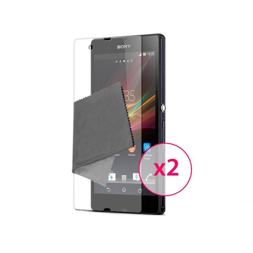 Clubcase ® Ultra Clear HQ screen protector for Sony XPERIA Z 2 Pack