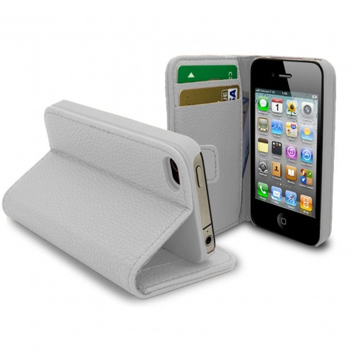 Smart Cover iPhone 4/4S White Leatherette Full Grain