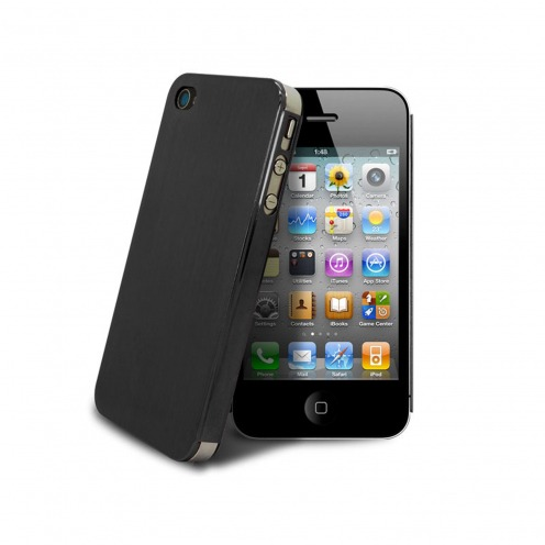 Acero Ultra-thin Black Brushed Metal Case for iPhone 4/4S