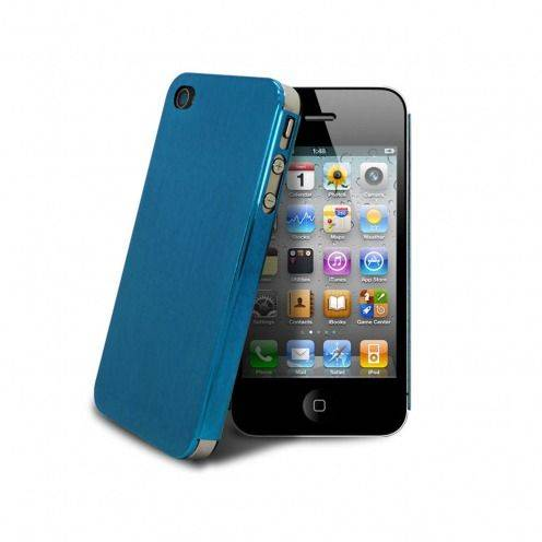 Acero Ultra-thin Blue Brushed Metal Case for iPhone 4/4S