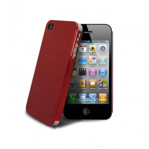 Acero Ultra-thin Red Brushed Metal Case for iPhone 4/4S