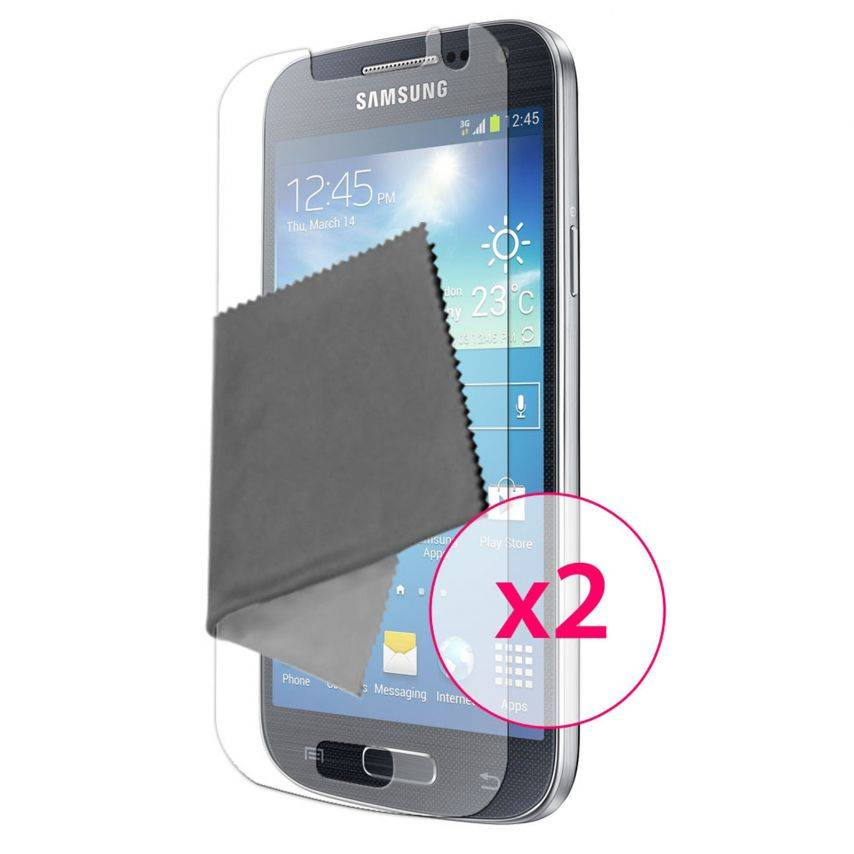 Clubcase ® Ultra Clear HQ screen protector for Galaxy S4 mini 2-Pack