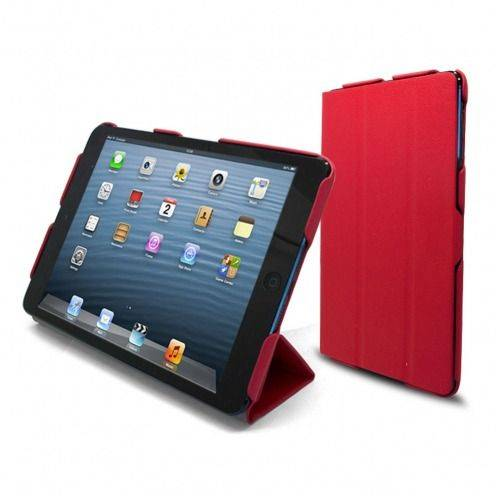 Ultra Light Smart Cover Stand case for iPad Mini Red