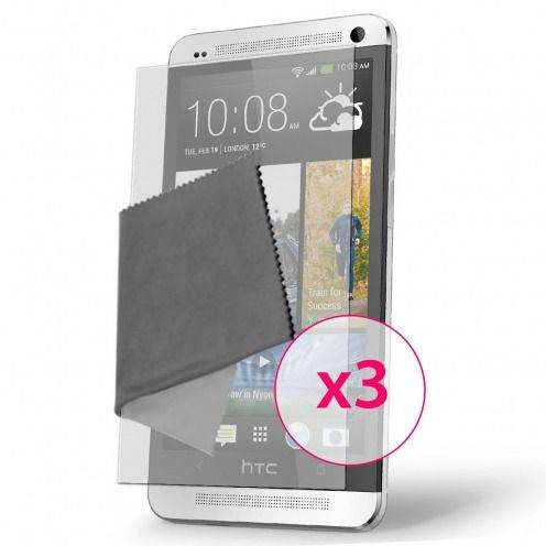 Clubcase ® Anti-Glare HQ screen protector for HTC One 3-Pack